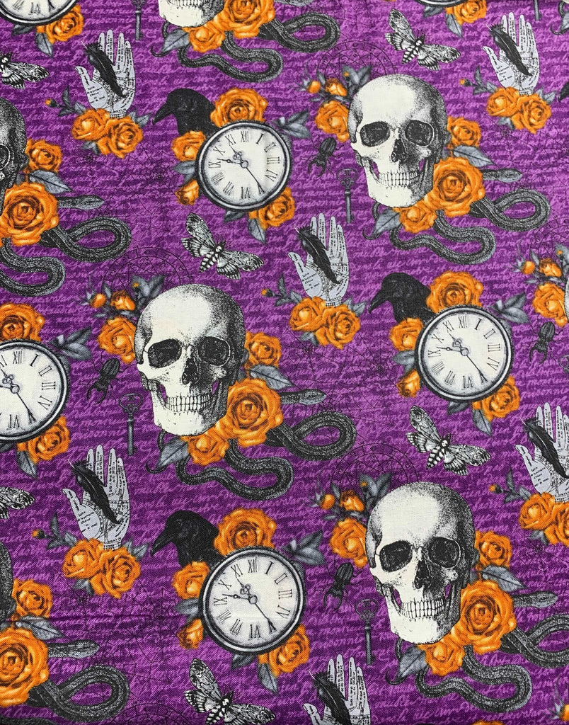 Wicked Features Purple Multi - Wicked - by Nina Djuric for Northcott Fabrics