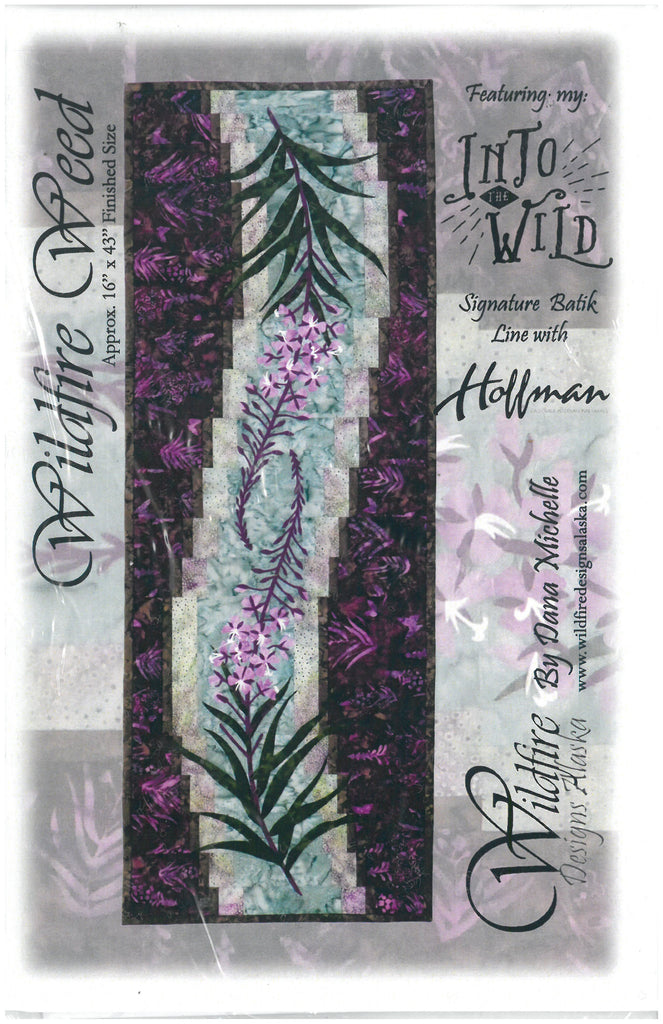 Wildfire Weed - Quilting Table Runner Pattern by Wildfire Designs Alaska