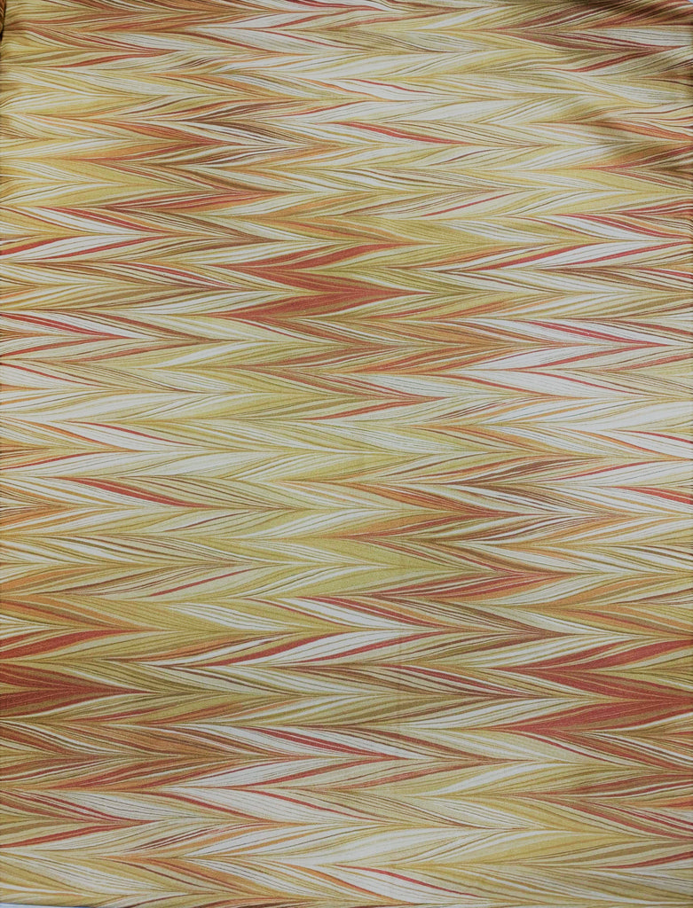 Boho Butterscotch Zig Zag Stripes - Art of Marbling - by Heather Fletcher for Northcott Cotton Fabric