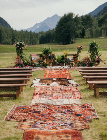Boho Wedding Aisle  with Vintage Rugs.jpg