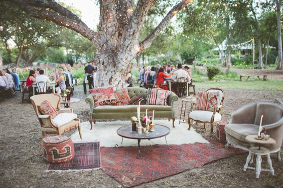 Boho Wedding Mismatched Seating