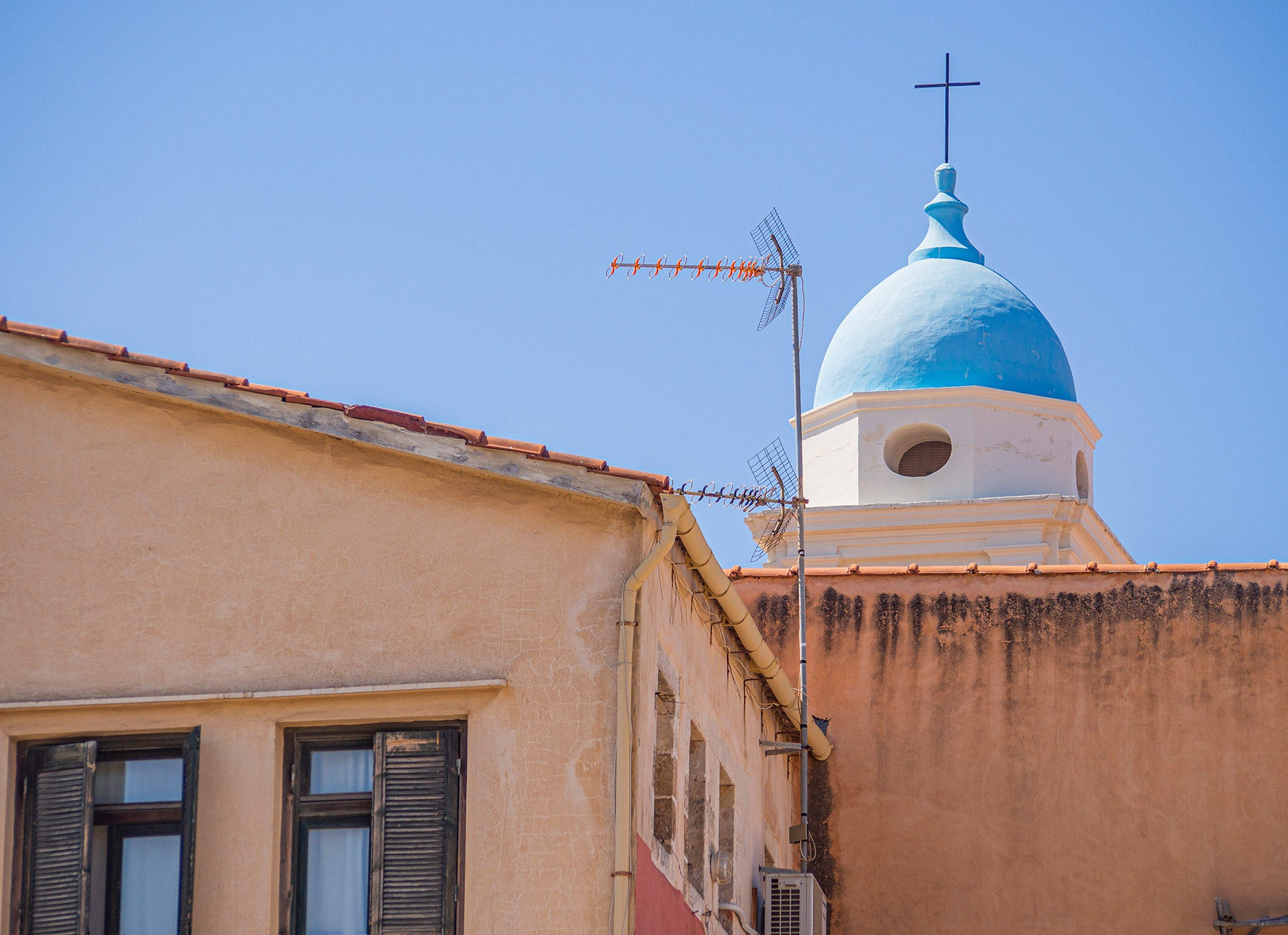 Chania Old Town Church Steeple Top, Crete