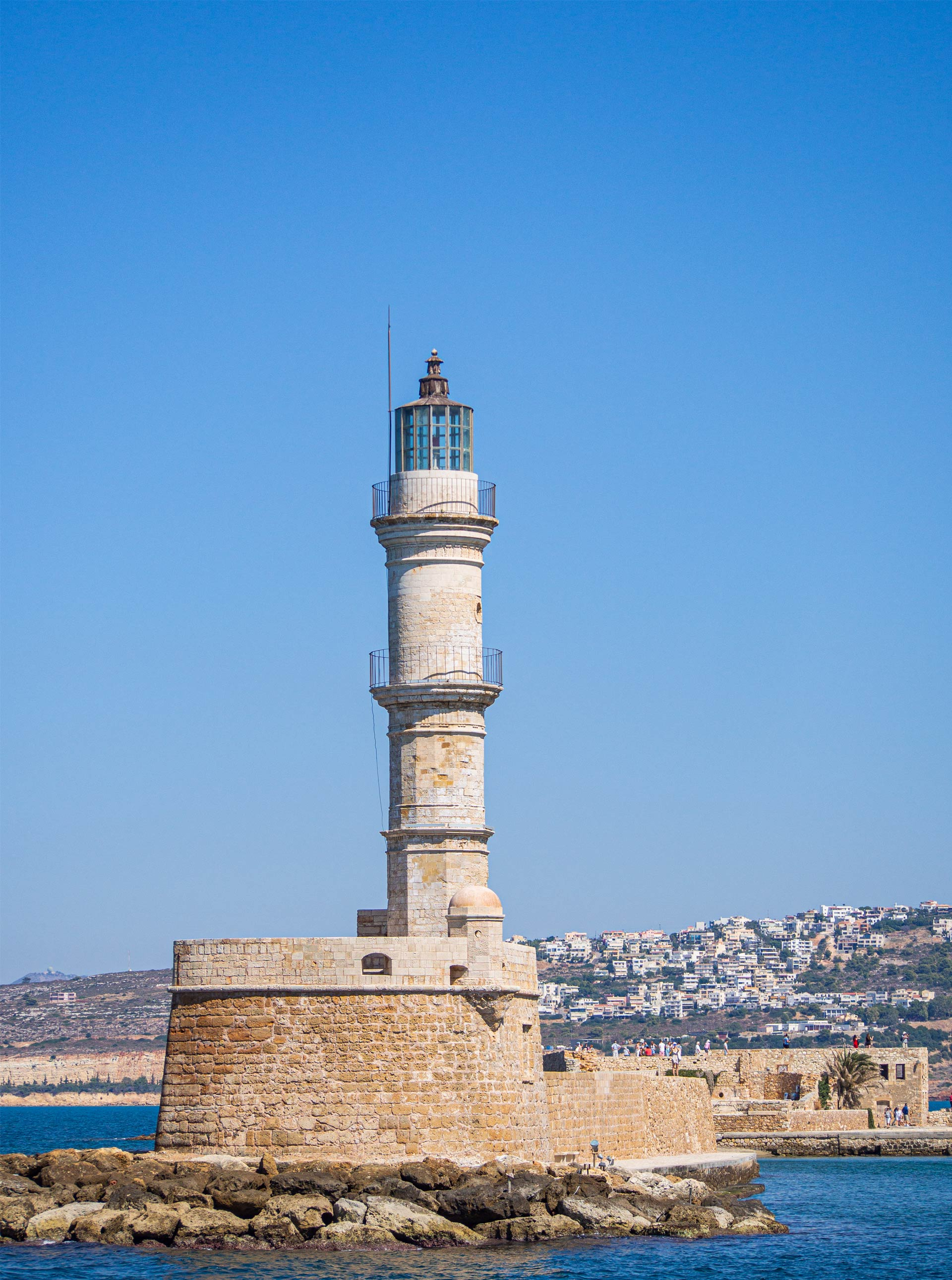 Chania Old Venetian Harbour Lighthouse, Crete