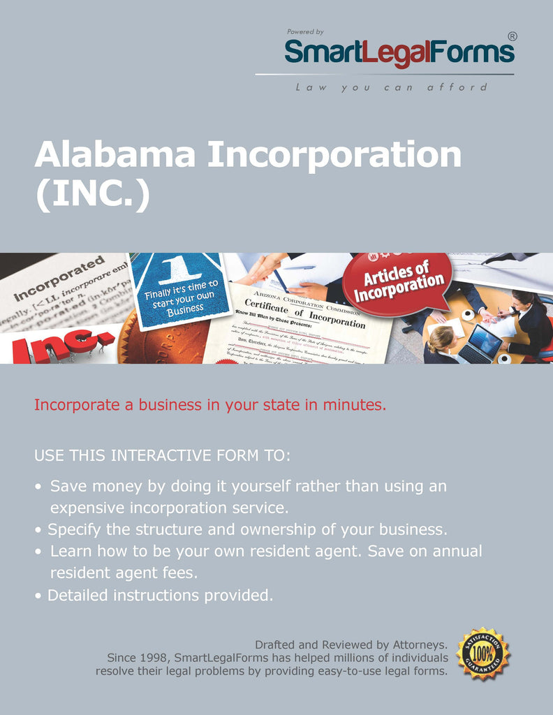 Articles of Incorporation- (Certificate of Business Formation) Alabama - SmartLegalForms