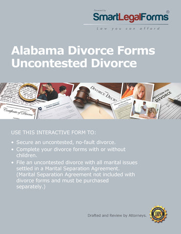 Alabama Divorce Forms - SmartLegalForms