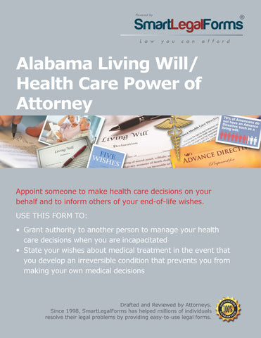 Living Will And Health Care Power Of Attorney Smartlegalforms