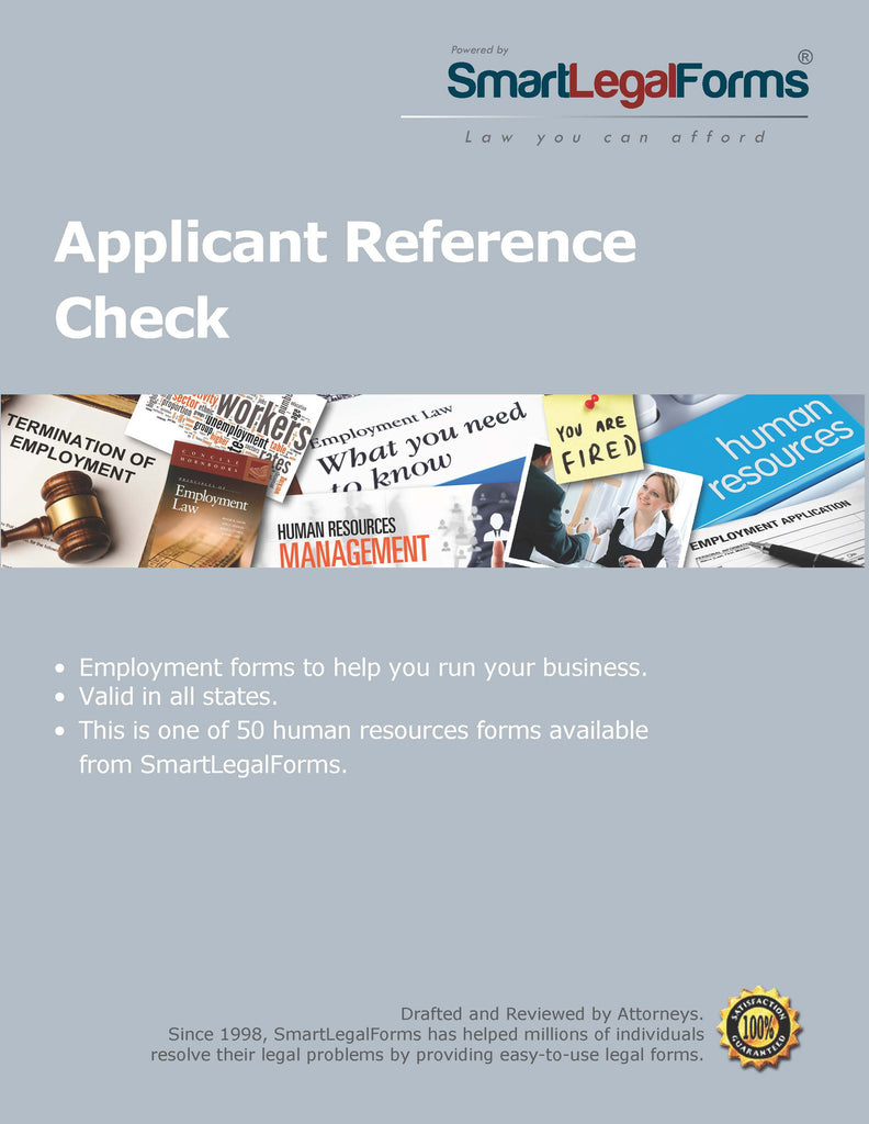 Applicant Reference Check - SmartLegalForms