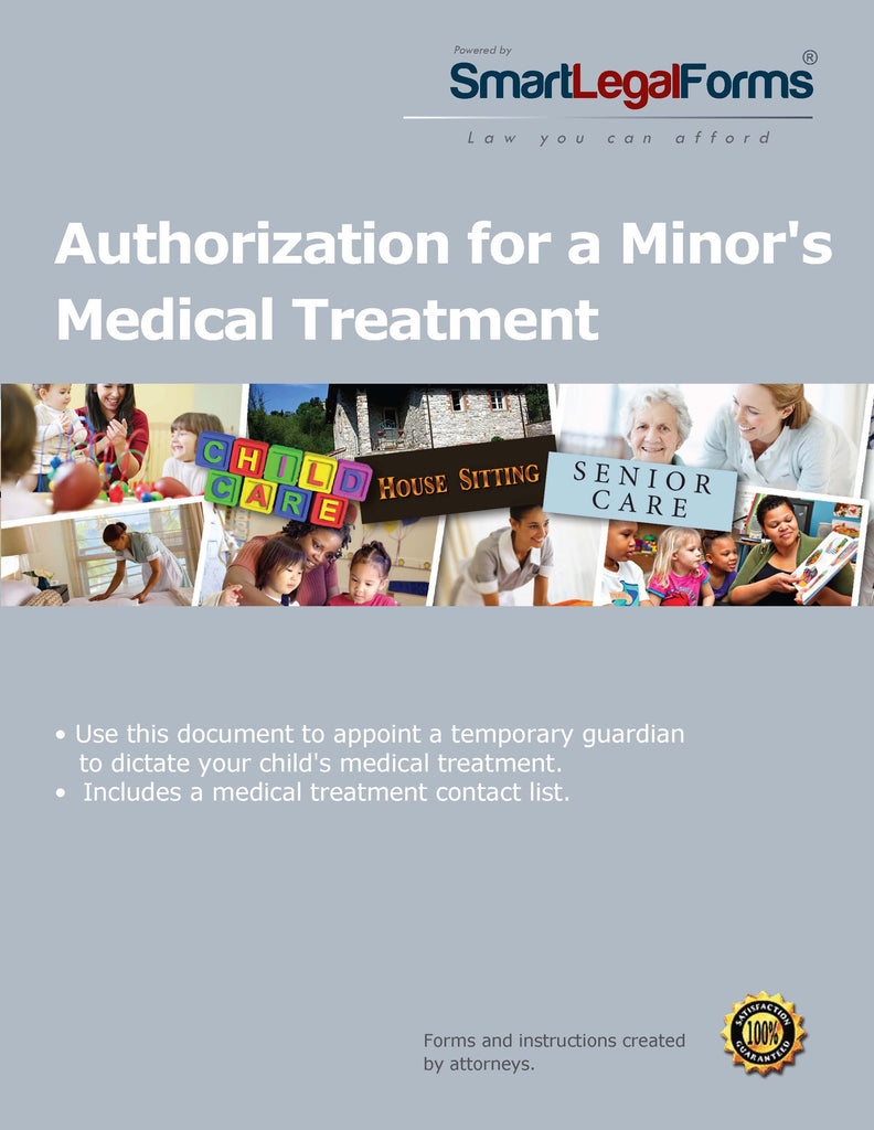 Authorization for a Minor's Medical Treatment - SmartLegalForms