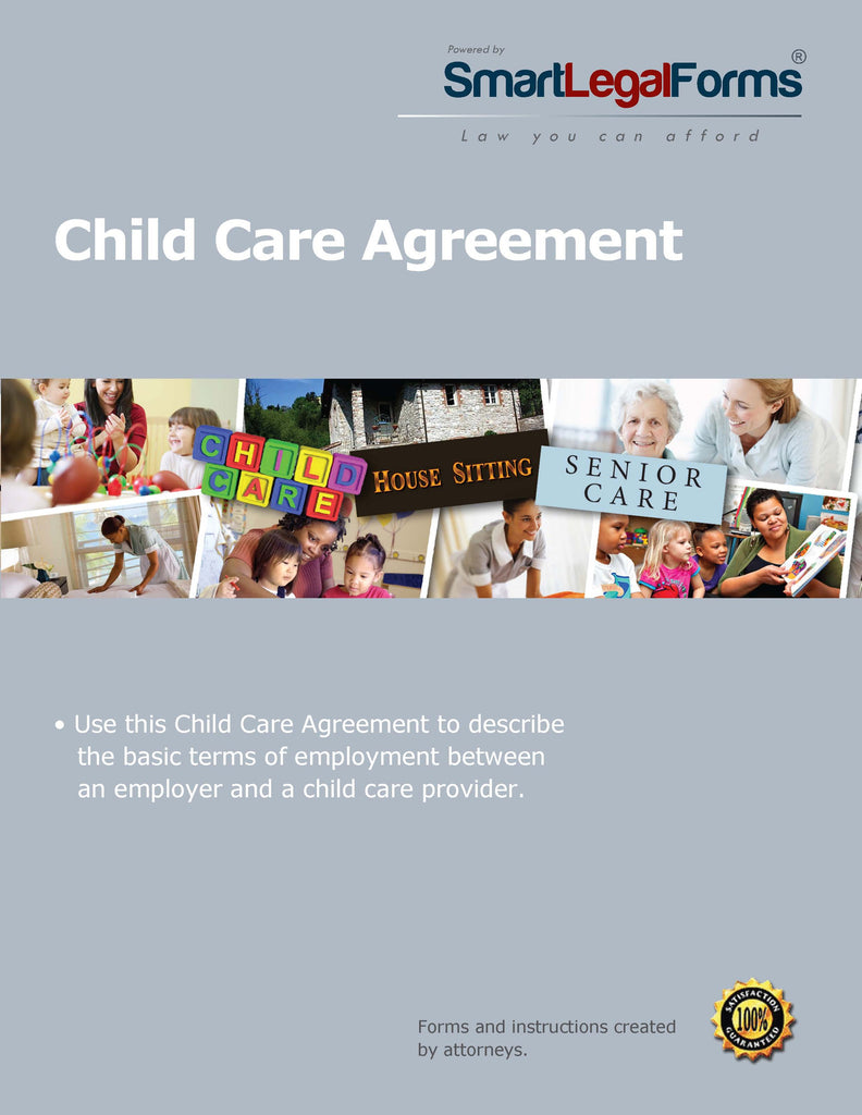 Child Care Agreement - SmartLegalForms