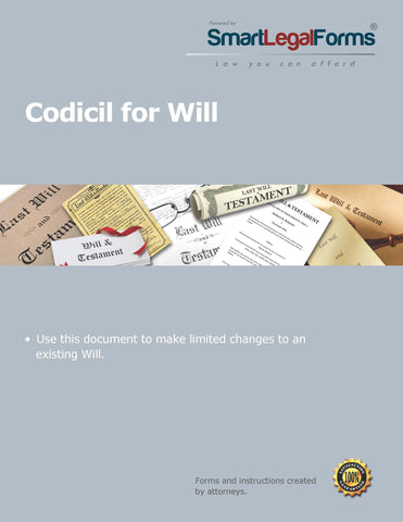 Codicil for a Will - SmartLegalForms