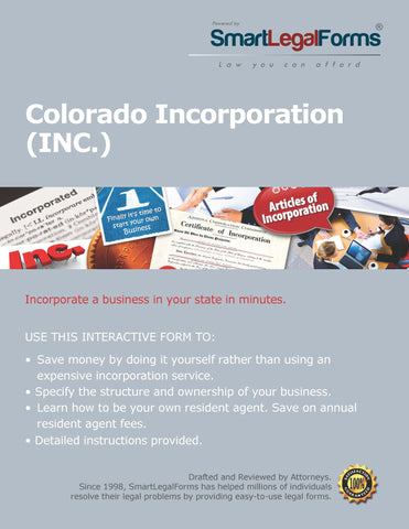Articles of Incorporation (Profit) - Colorado - SmartLegalForms