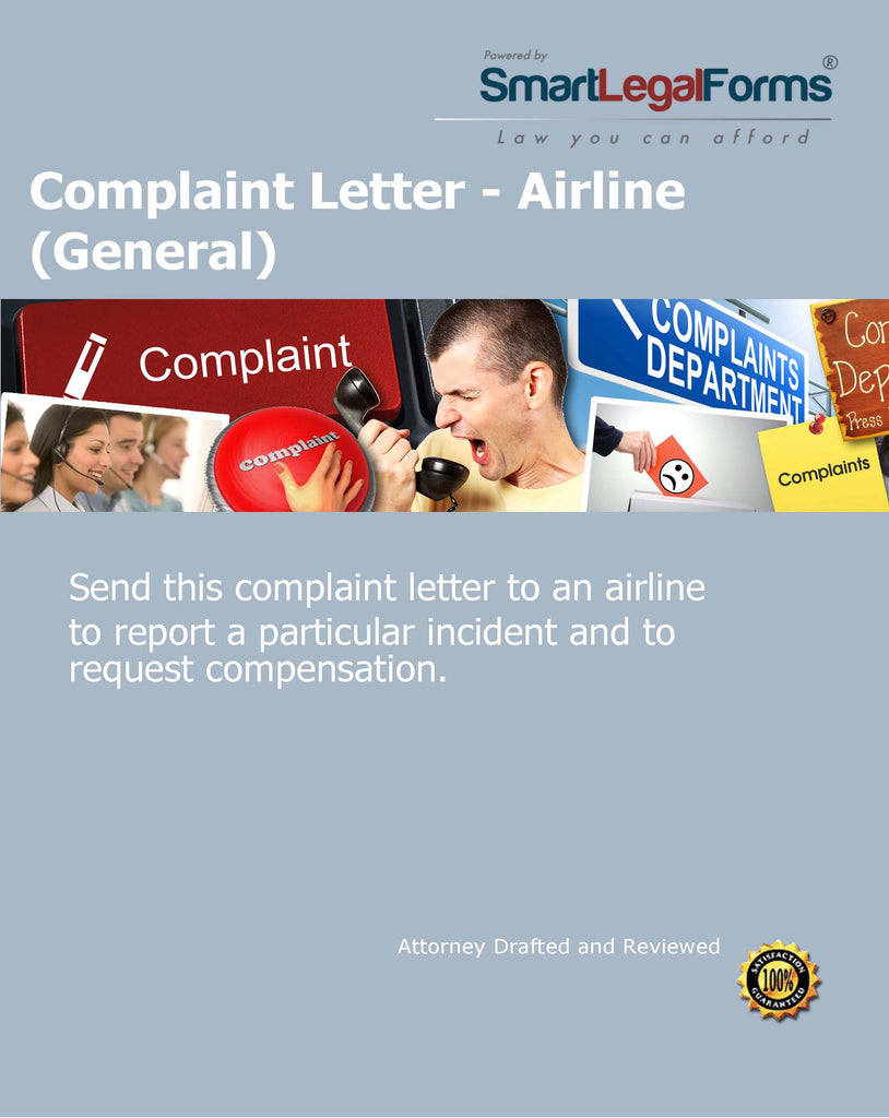 Complaint Letter - Airline (General) - SmartLegalForms