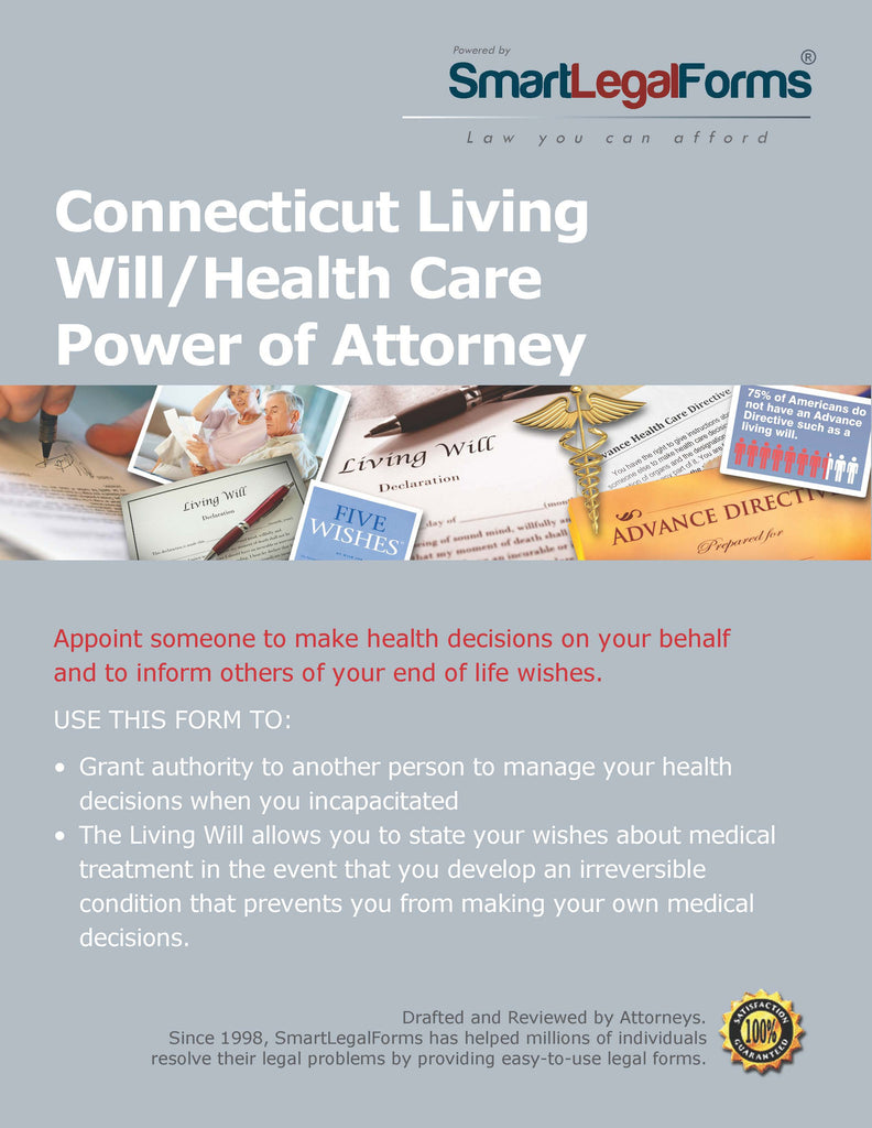 Connecticut Living Will/Health Care Power of Attorney - SmartLegalForms