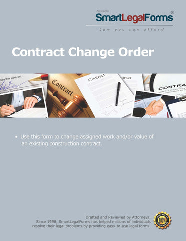 Contract Change Order - SmartLegalForms