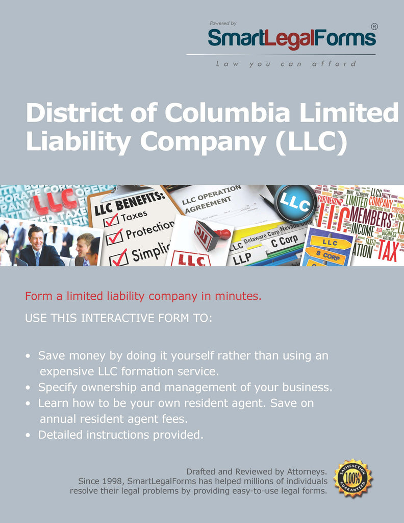 Articles of Organization (LLC) - District of Columbia - SmartLegalForms