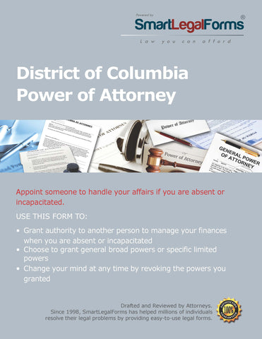 Power of Attorney - District of Columbia - SmartLegalForms