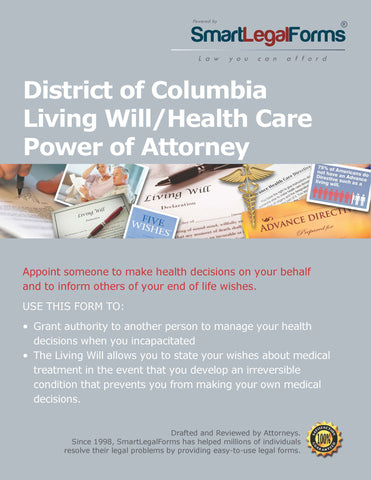 District of Columbia Living Will/Health Care Power of Attorney - SmartLegalForms