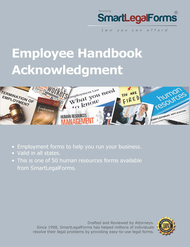 Employee Handbook - SmartLegalForms