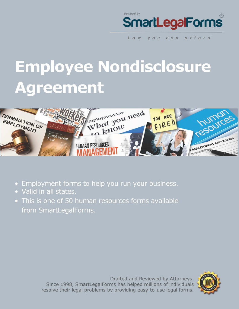 Employee Nondisclosure Agreement - SmartLegalForms