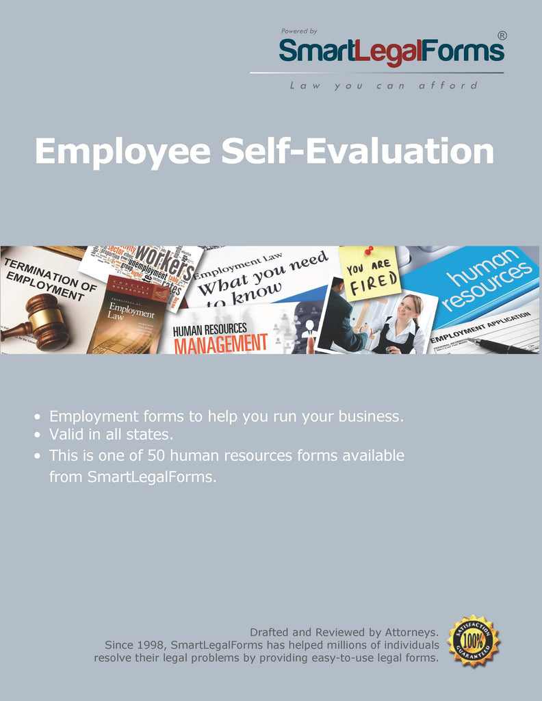 Employee Self-Evaluation - SmartLegalForms