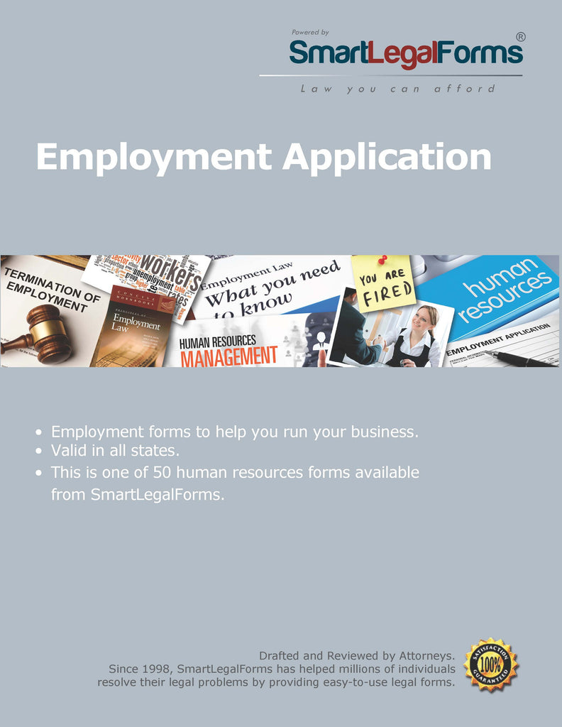 Employment Application - SmartLegalForms