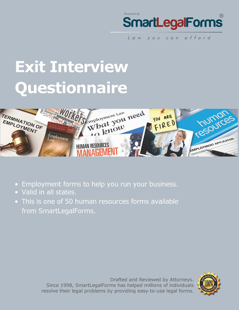 Exit Interview Questionnaire - SmartLegalForms