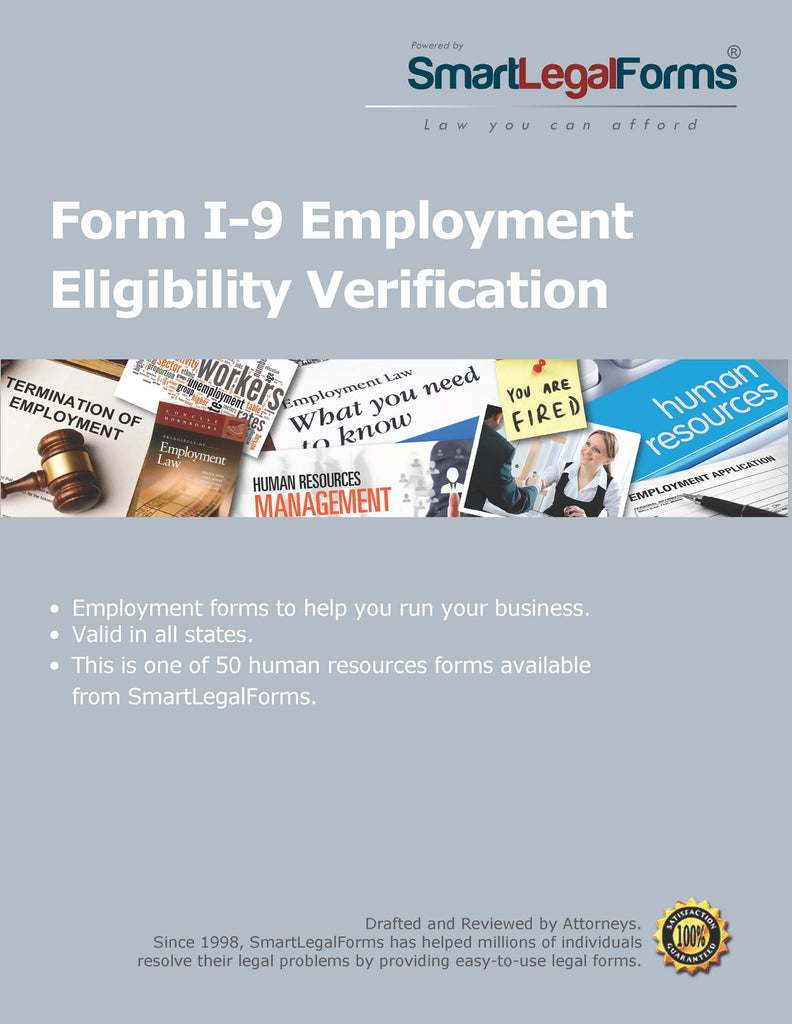 Form I-9 Employment Eligibility Verification - SmartLegalForms