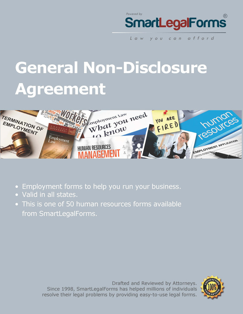 General Non-Disclosure Agreement - SmartLegalForms