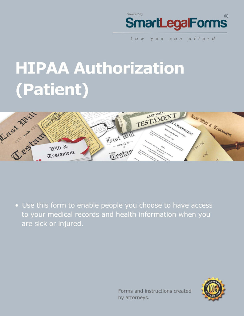 HIPAA Authorization for a Patient - SmartLegalForms