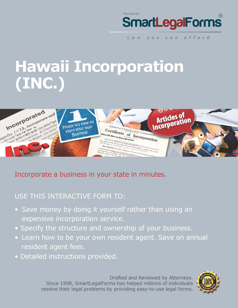 Articles of Incorporation (Profit) - Hawaii - SmartLegalForms