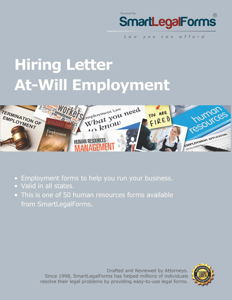 Hiring Letter At-Will Employment - SmartLegalForms