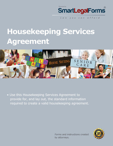Housekeeping Services Agreement - SmartLegalForms
