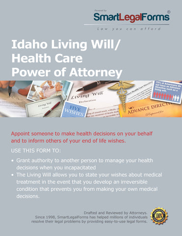 Idaho Living Will/Health Care Power of Attorney - SmartLegalForms