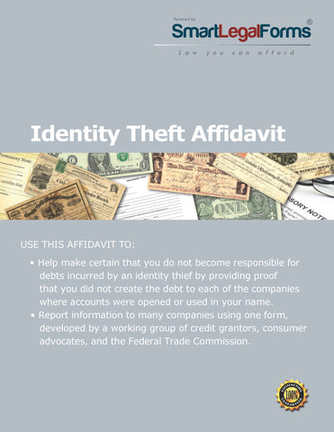 Identity Theft Affidavit - SmartLegalForms
