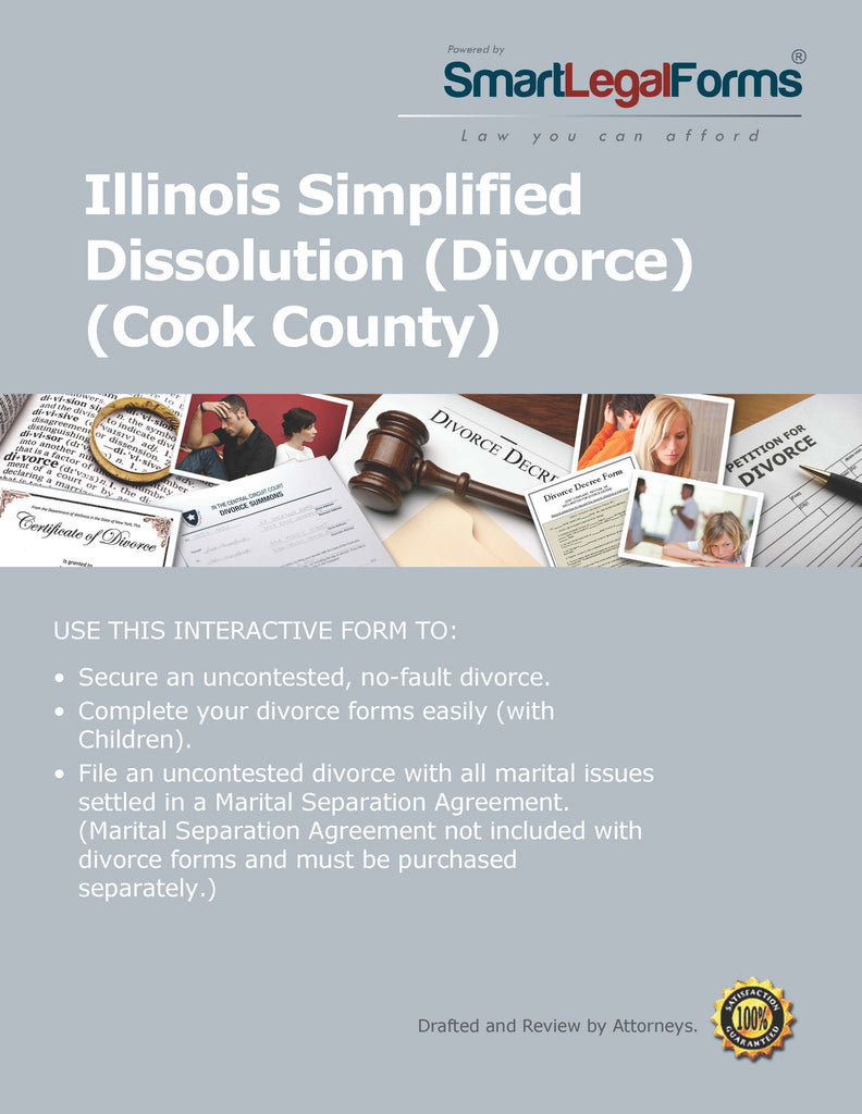 Illinois Simplified Dissolution of Marriage (Cook County) Divorce - SmartLegalForms