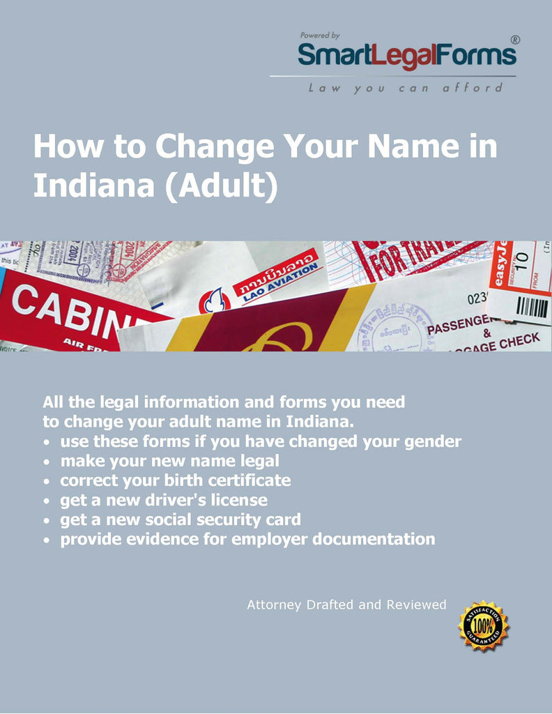 How To Change Your Name In Indiana SmartLegalForms - Indiana legal forms