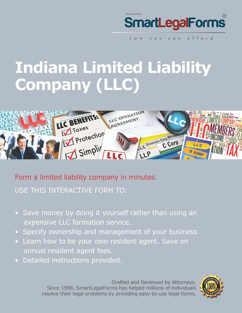 Articles Of Organization LLC Indiana SmartLegalForms - Indiana legal forms