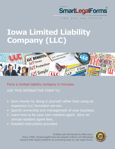 Articles of Organization (LLC) - Iowa - SmartLegalForms