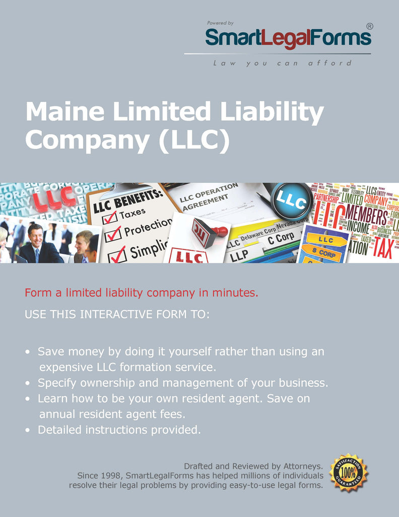 Certificate of Formation (LLC) - Maine - SmartLegalForms