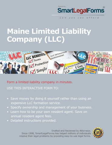 Articles of Organization (LLC) - Maine - SmartLegalForms