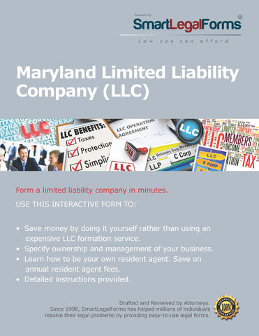 Articles of Organization (LLC) - Maryland - SmartLegalForms