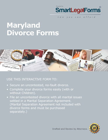 Maryland Divorce Forms - SmartLegalForms