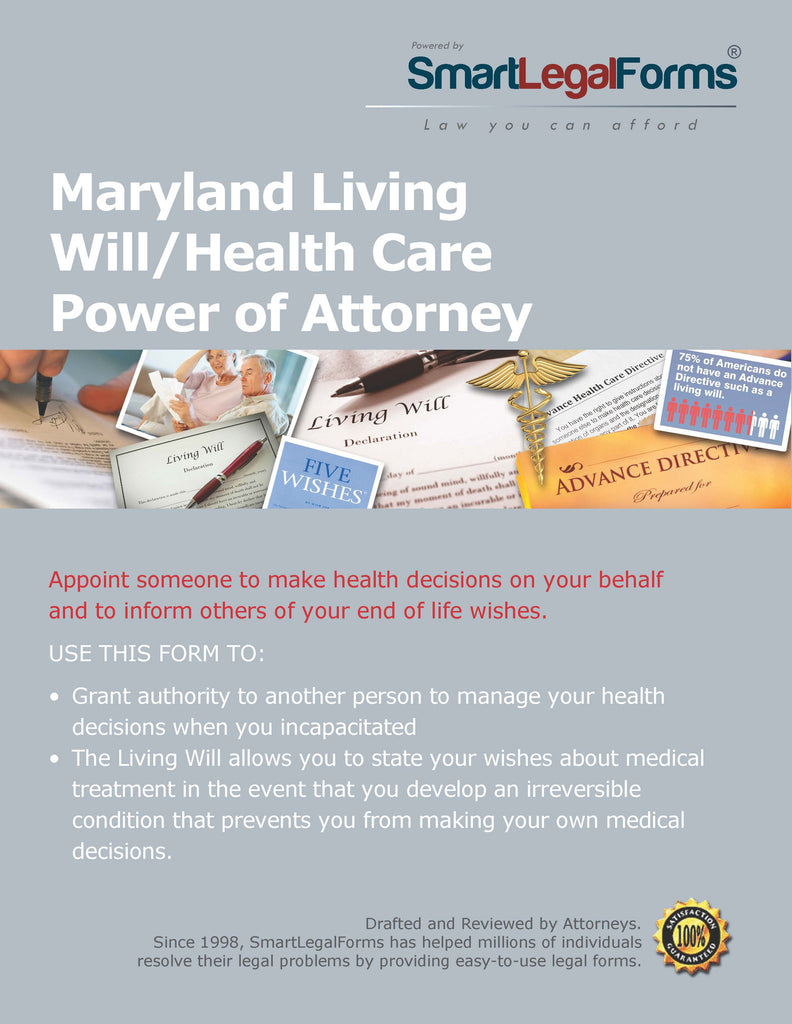 Maryland Living Will/Health Care Power of Attorney - SmartLegalForms