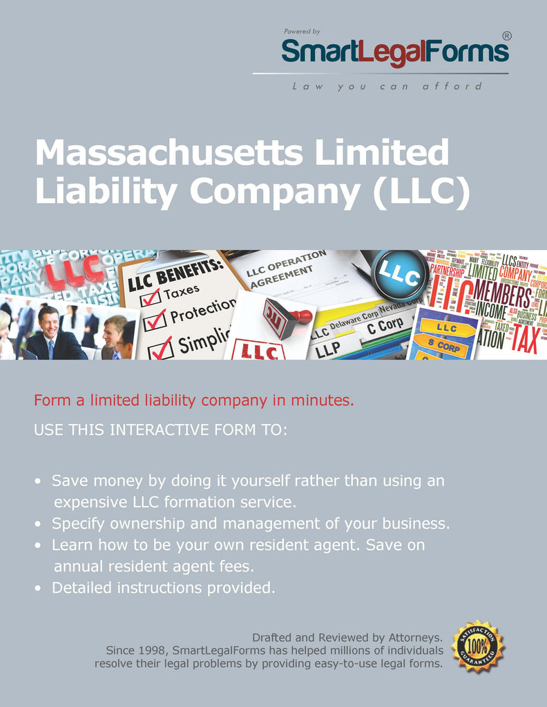 Certificate of Organization (LLC) - Massachusetts - SmartLegalForms