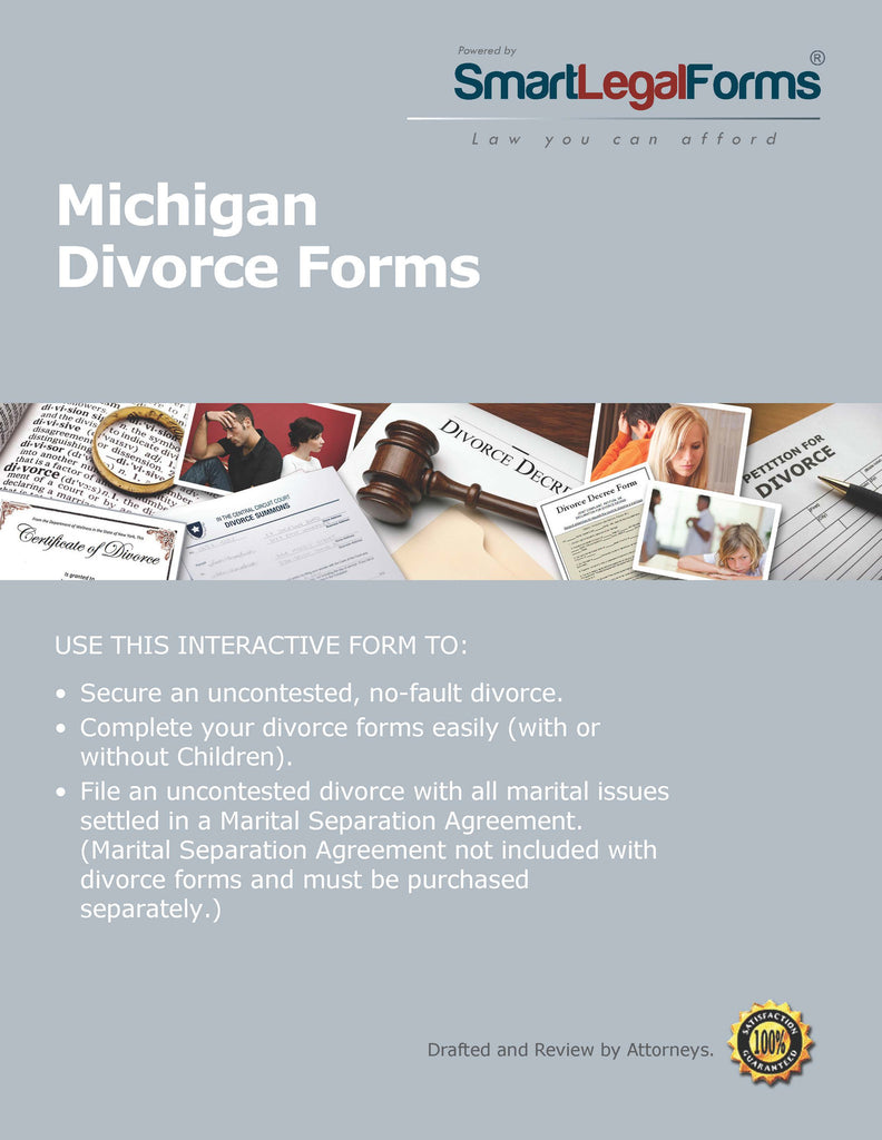 Michigan Divorce Forms - SmartLegalForms