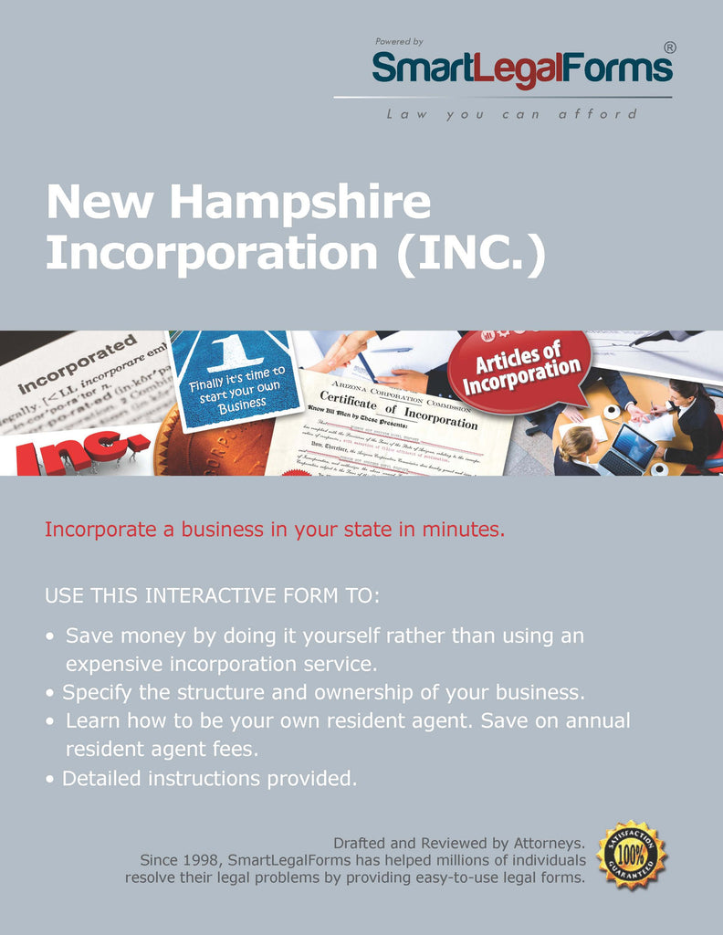 Articles of Incorporation (Profit) - New Hampshire - SmartLegalForms