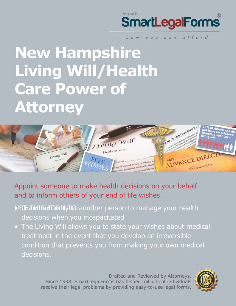 New Hampshire Living Will/Health Care Power of Attorney - SmartLegalForms