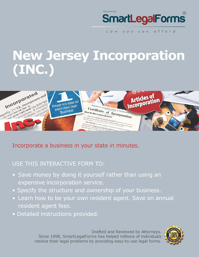Articles of Incorporation (Profit) - New Jersey - SmartLegalForms