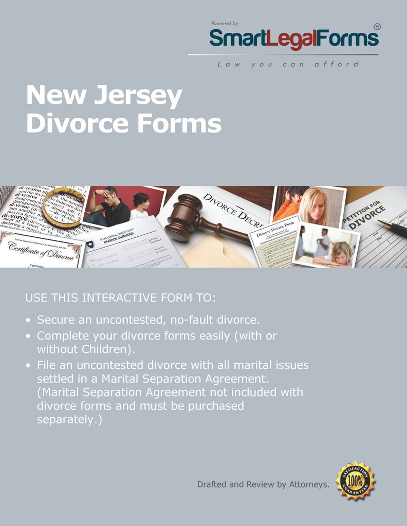 New Jersey Divorce Forms - SmartLegalForms