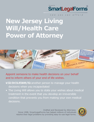 New Jersey Living Will/Health Care Power of Attorney - SmartLegalForms